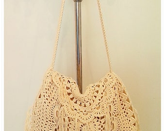 Crochet Bag, Crochet Crossbody Bag, Crochet Boho Bag, Crochet Shoulder Bag, Crochet Fringe Bag, Summer Bag, Gift for Her