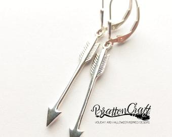 Sterling Silver Arrow Earrings - Silver Arrow Earrings - Archery Earrings - Silver Arrow Jewelry - Archery Jewelry - Southwest Earrings