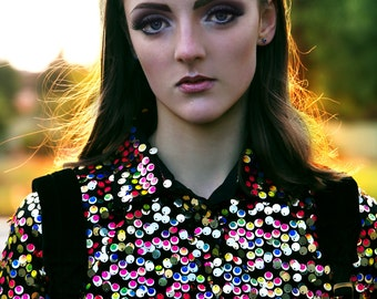 Rainbow Road Sequin Shirt Dress