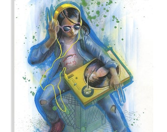 DJ X-23 painting   Laura from LOGAN