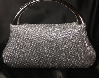 Silver Clutch,Silver Evening Bag,Clutch,Evening Bag,Silver Bridal Clutch,Silver Minaudiere,Silver Wedding Purse,After Five Clutch,Minaudiere