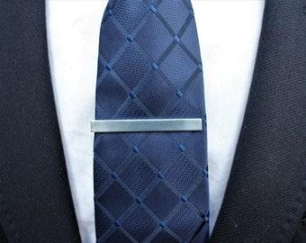 Silver tie bar. Silver tie clip. Tie bar. Tie clip. Titanium tie bar. Groomsmen gift. Groom tie clip. GET 25% OFF! Coupon Code: FREETCLIP
