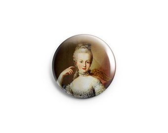 "Marie Antoinette button - 1.25"" Pinback Button - Marie Antoinette badge - Marie pin  - French Revolution pin - Let them eat cake - history"