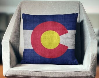 Colorado Pillow | Colorado Gift | Colorado Flag | Colorado Decor | Colorado State Flag | Colorado Home Decor