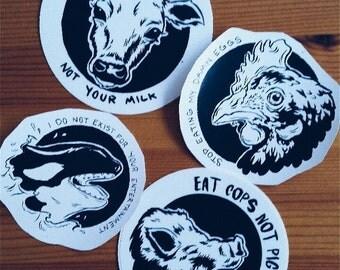 Vegan Propaganda Stickers