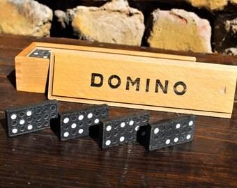 Dominoes - Wooden Dominoes - Vintage Domino Set - Wood Domino Set - Vintage Game - Kids Wooden Toy - Nar Mag