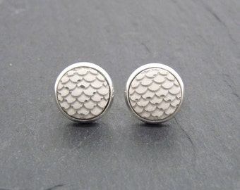 Ear plug concrete - fish scales - Dragonscale - gift-