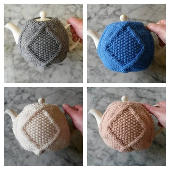 Knitting Pattern: Teacozy in Aran weight yarn. Instant PDF download. Aran Teacosy. Original Aran design. Knit your own teacosy. Teapot cover