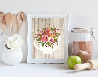 Wood Wall Art, print art, print on wood, print download, prints, prints wall art, prints for kitchen, art prints, wall art prints, flower