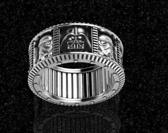star wars ring, Geek wedding ring, Darth vader ring, star wars wedding band, stormtrooper, jedi, nerd ring, star wars mens jewelry