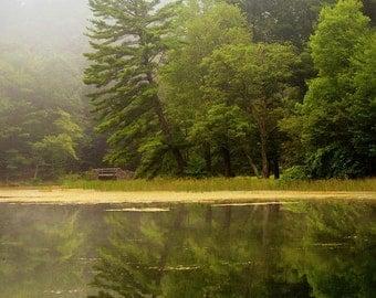 Lake Picture, Landscape Photography, Sunrise Landscape Print, Nature Photography, New York Lake Print, Lake Fog Sunrise, Lake House Decor