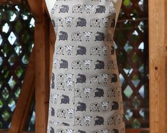 Linen cotton apron Sheep, funny kitchen apron, cute apron, cooking apron