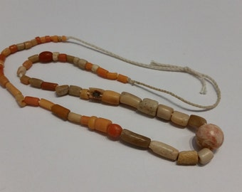 Antique Coral Beads Necklace Made in Afghanistan