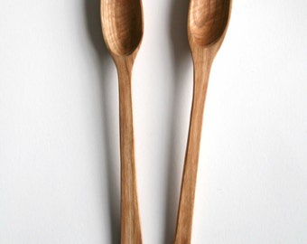 Hand carved cherry wooden spoon
