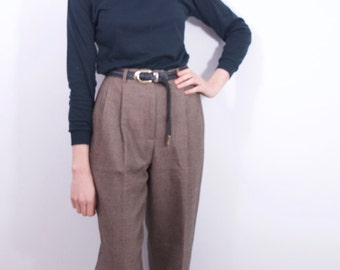 coolest vintage patterned pure wool pleated trousers Women's SZ 4/29 vintage pants vintage tousers