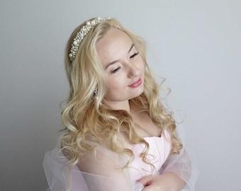 Bridal head band, Pearl  Headband,Wedding Headpiece,Jewelry Tiara,Bridal tiara, Wedding hair Accessories,