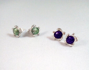 """Silver earrings """"Kurma"""""""