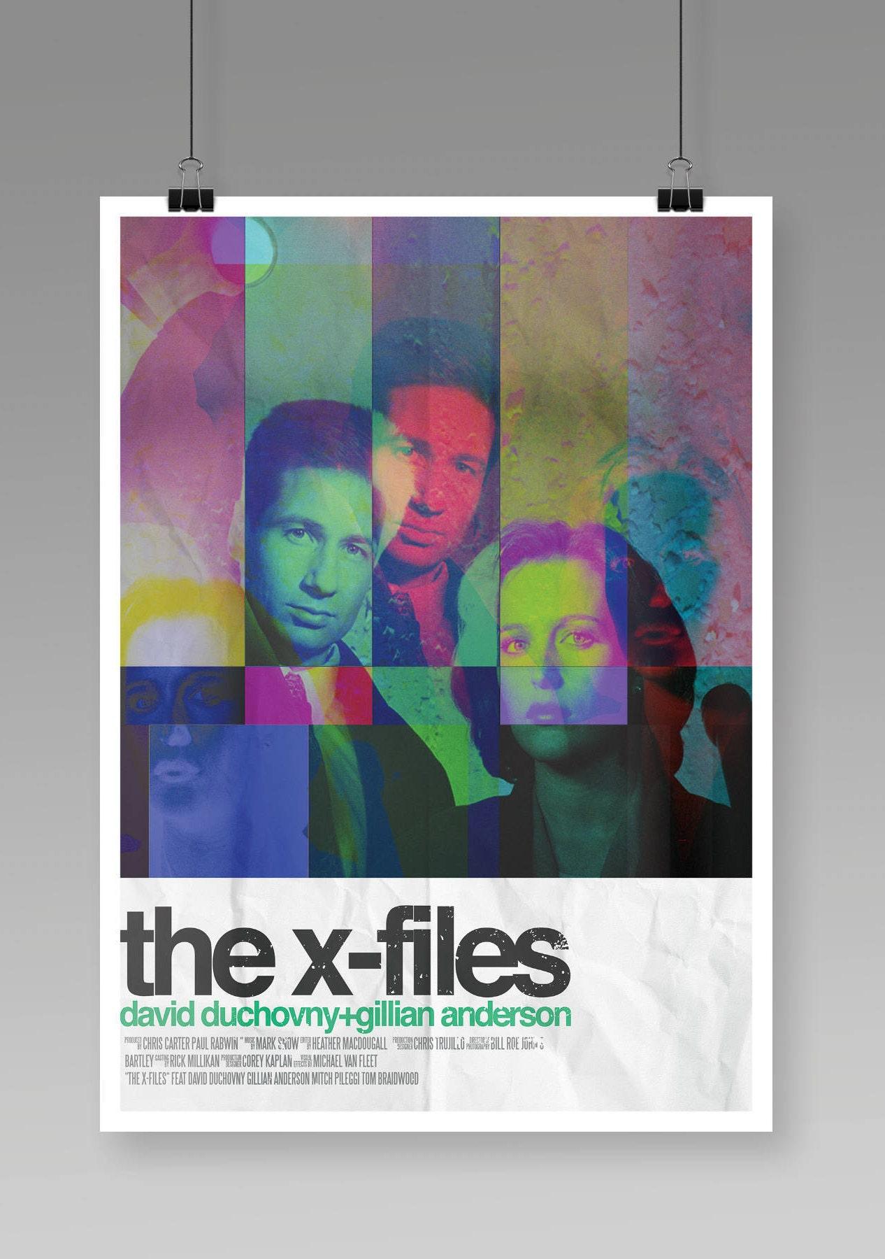 The X Files Poster TV Movie Alternative Poster Retro