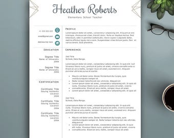 Creative Resume Template for Word & Pages. Complete 1,2,3 Pages Resume Template. Professional CV Template. Elegant CV, Creative Resume.