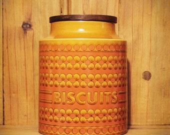 Large Hornsea Pottery Biscuit Barrel