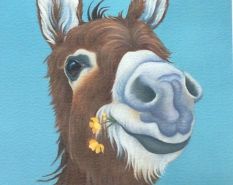 "donkey painting ""Jenny"""