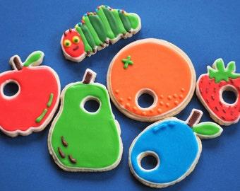 Very Hungry Caterpillar sugar cookies - 1 dozen