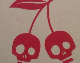 Cherry Skulls Vinyl Decal #1-004