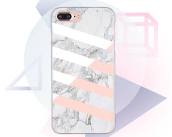 Marble iPhone 7 Case White iPhone 8 Case Clear iPhone SE Case Marble Pink iPhone X Case for iPhone 7 Plus Clear Marble iPhone 6 Case MC1034