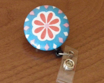 Flower Badge Reel, ID holder