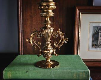 Vintage Solid Brass Candlestick Candle holder