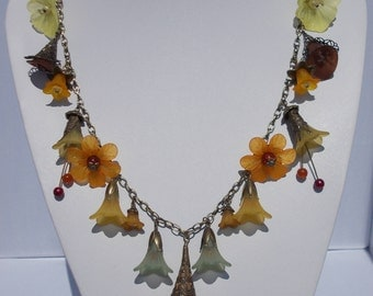 Autumnal Themed Lucite Necklace