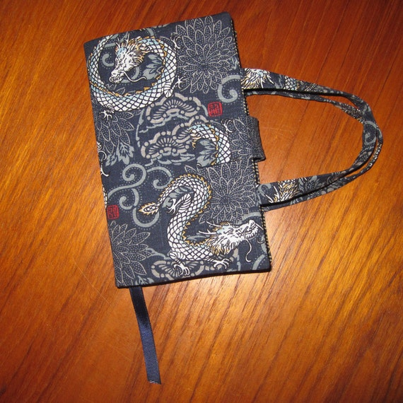 Book Cover Material Japan : Paperback fabric book cover japanese asian imperial dragons