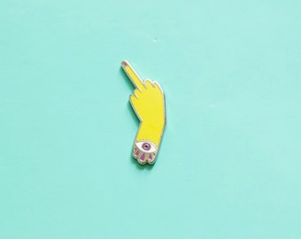 Pissed Off Middle Finger Enamel Pin