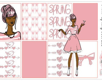 Happy Planner Boxes Planner Stickers Spring Pink Free Doll Pink