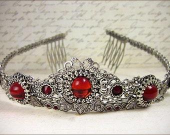 Wedding Tiara, Tudor Crown, Custom Headpiece, Renaissance, Medieval, Crown, Bridal Tiara, Queen, Medieval Wedding, Renaissance Wedding, Garb