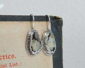 Bezel Set Genuine Boulder Opal Gemstone and Sterling Earrings--Artisan--Metalsmith--October Birthstone