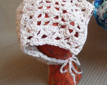 Summer CLEARANCE EVENT Head or Neck Kerchief, Tie On Bonnet, USA Grown Cotton, Sonoma