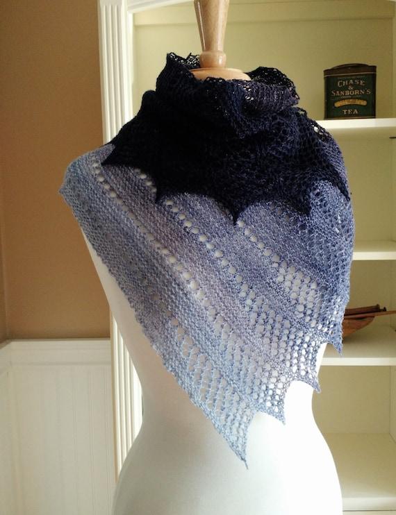 Lace Shawl Knitting Pattern PDF - Mistral Shawl ...
