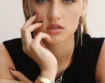 Leather and Gold bracelet, Leather Bracelets for Women, leather cuff bracelets for women, Animal Bracelet, leather metal bracelet, Iguana