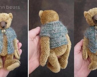 """Eliza,  7"""" Mohair Artist Teddy Bear from Aerlinn Bears"""