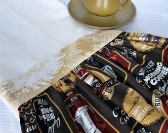 Flour sack ruffle kitchen towel-coffee ad motif