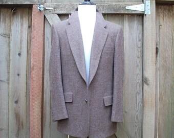 Vintage Classic Mens Medium Large Christian Dior Monsieur Single Vent Blazer Wedding Suit Sports Coat Wool Jacket Overcoat Spring Hipster