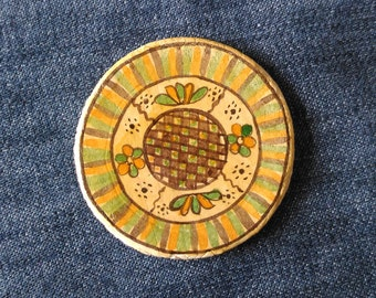 Romanian pottery heritage treasure,Ceramic Magnets, Fridge Magnets, Floral Folk Art,Painting Magnets, Unique Magnets,Magnet Gifts