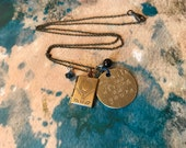 My Will is as Strong as Yours: Labyrinth Inspired Hand Stamped Necklace With Book Locket