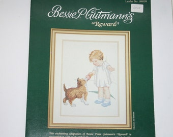 "Bessie P. Gutmann's ""Reward"" Cross Stitch Leaflet #84009"