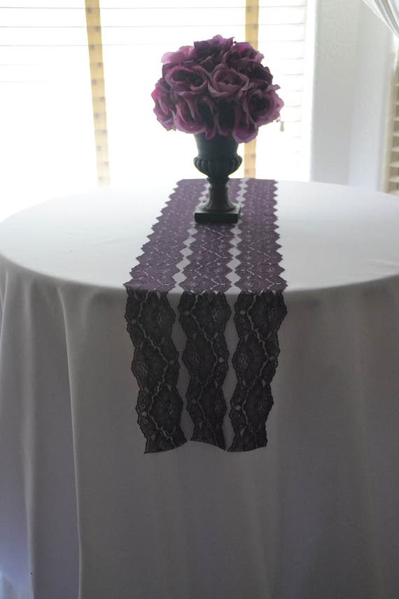 PLUM LACE Table Runner 10 And 3Ft 16 Ft Lengths /Custom