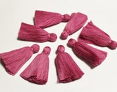Orchid Boho Ethnic Cotton Tassels 2'', 10 Quality Tassels for Jewelry Making, India Cotton Tassels (TS26)