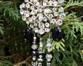 Rhinestone Ornament, Christmas Ornament, Recycled Jewelry Craft, Beaded Sun Catcher, Garden Accent, Window Decor, Repurposed Vintage Jewelry