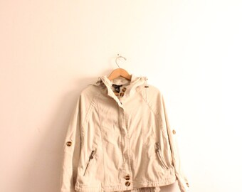 Basic Khaki Wide 90s Jacket