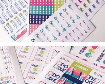NEW! Get it Done Planner Stickers (Qty 342) ideal for any planner, checklists, bills, do today, goal thermometer Ships NOW!